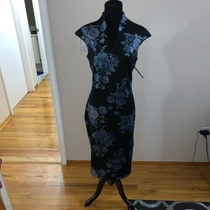 Blue Floral New York & Company Dress